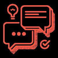 piano alto - icona comunicazione