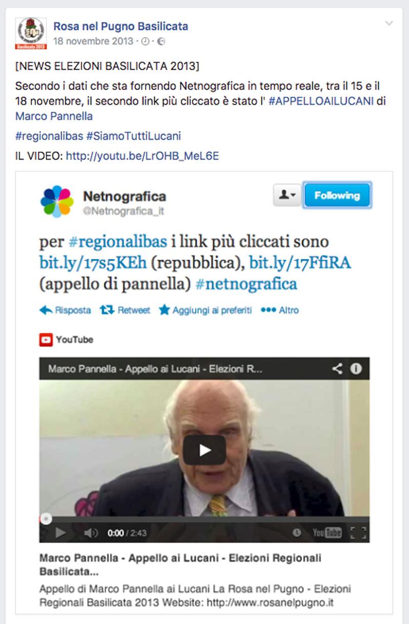 analisi netnografica regionali basilicata 2013 - piano alto