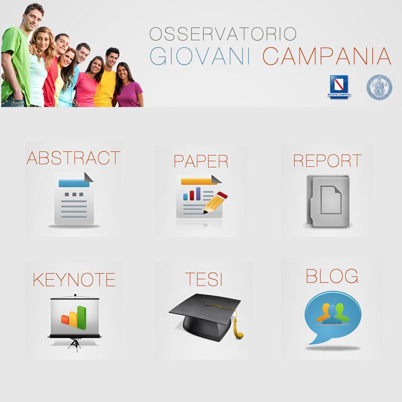 sezioni sito web osservatorio giovani campania - piano alto