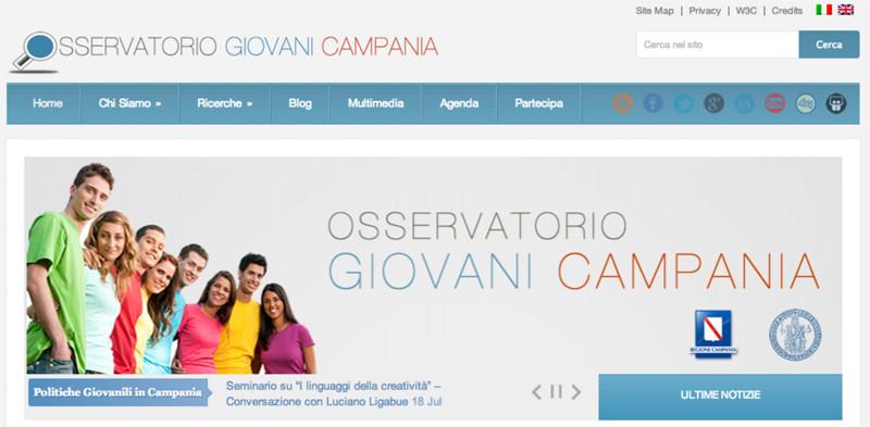 sito web osservatorio giovani campania - piano alto