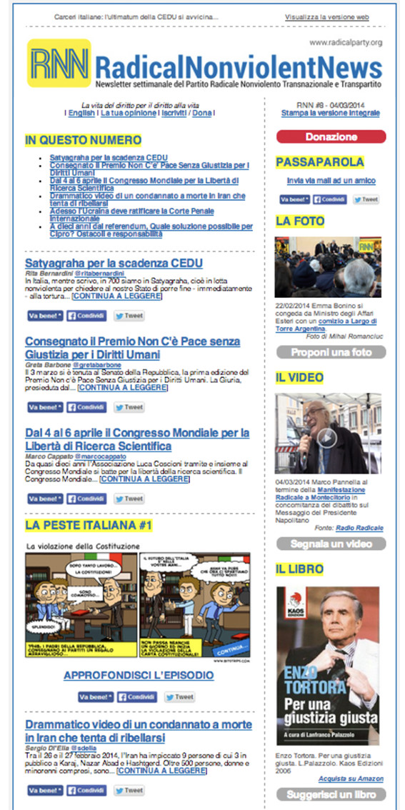 preview newsletter partito radicale - piano alto