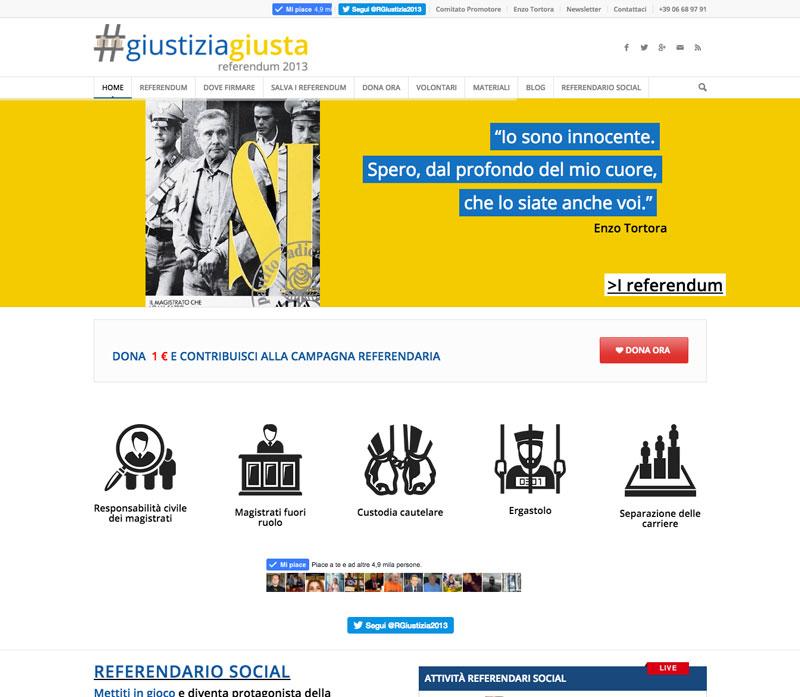sito web referendum giustizia giusta 2013 - piano alto